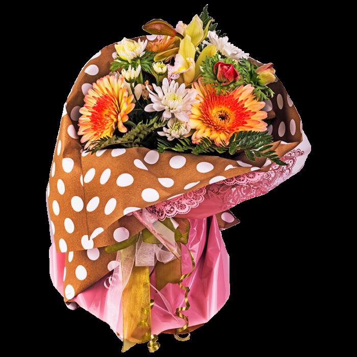 PASTEL BOX VASE BOUQUET FLOWERS