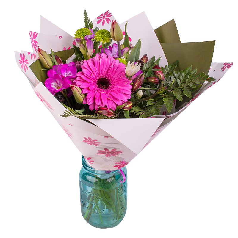 Bright, bold, vivid, stimulating hand-tied flower bouquet. Flowers crafted by our professional florist for all occasions. Careful delivery New Zealand wide.