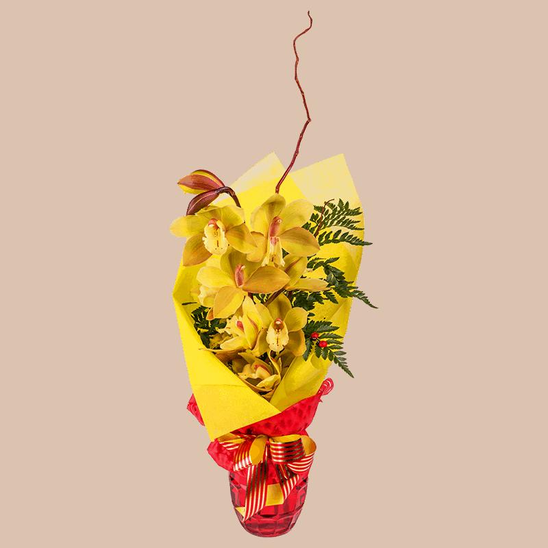 Beautiful exotic flower arrangement